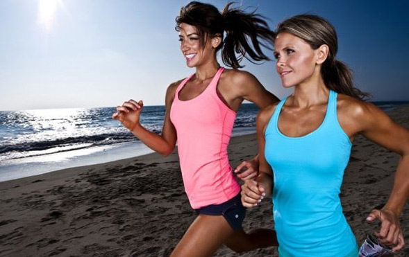 Beach running is a great way to burn calories