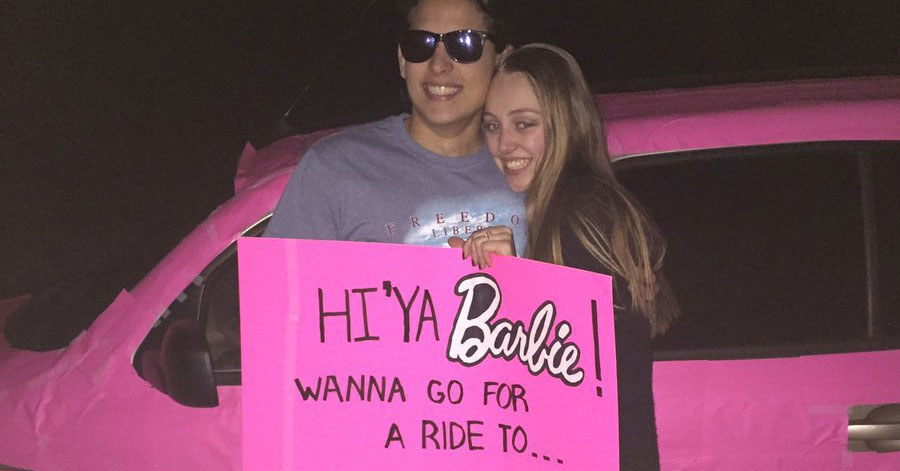 Barbie gets the cutest promposal of 2017