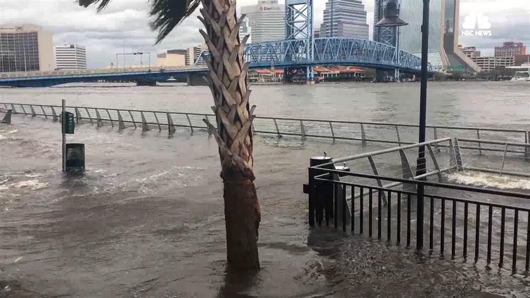 Flooding in Jacksonville, Florida after IrmaIrma