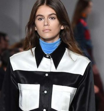 Kaia Gerber, Cindy Crawford's youngest child, walked for Calvin Klein at New York Fashion Week