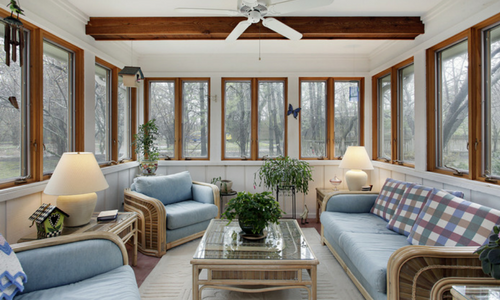 Make your sunroom cozy this winter