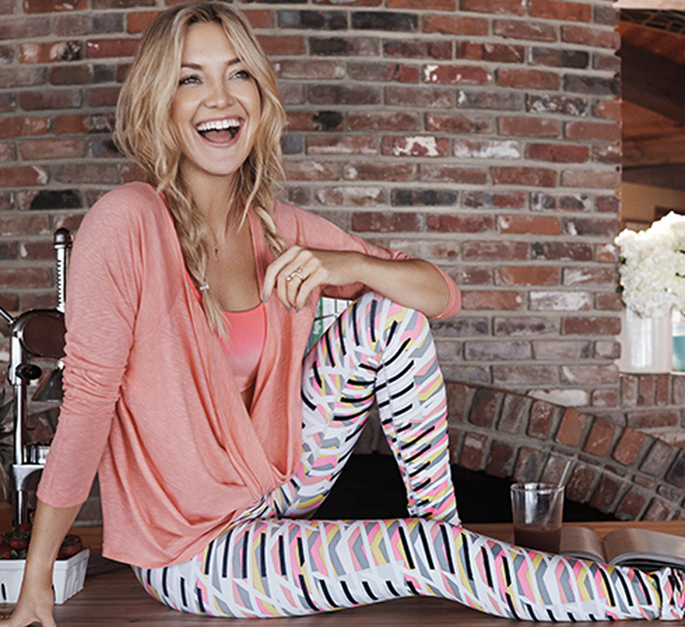 Kate Hudson in her signature Fabletics Brand