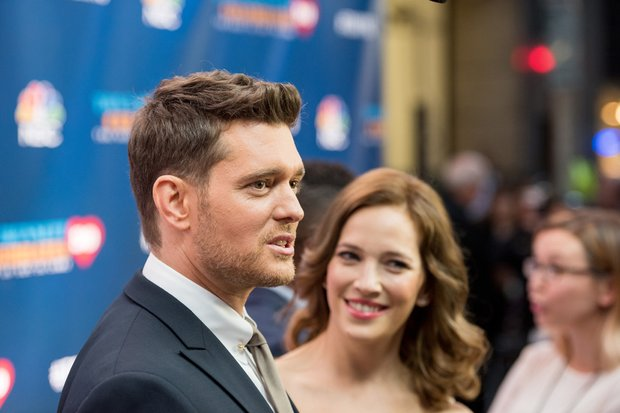 Michael Buble and wife, Luisana Lopilato